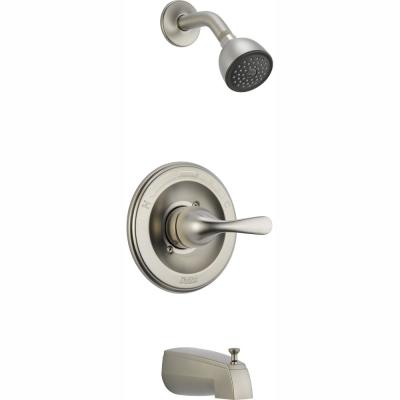 Classic 1-Handle Slip On Spout Tub and Shower Faucet Trim Kit in Stainless (Valve Not Included)