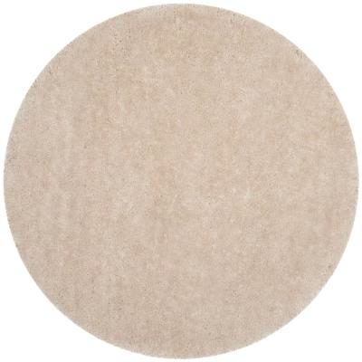 Luxe Shag Bone 6 ft. x 6 ft. Round Area Rug