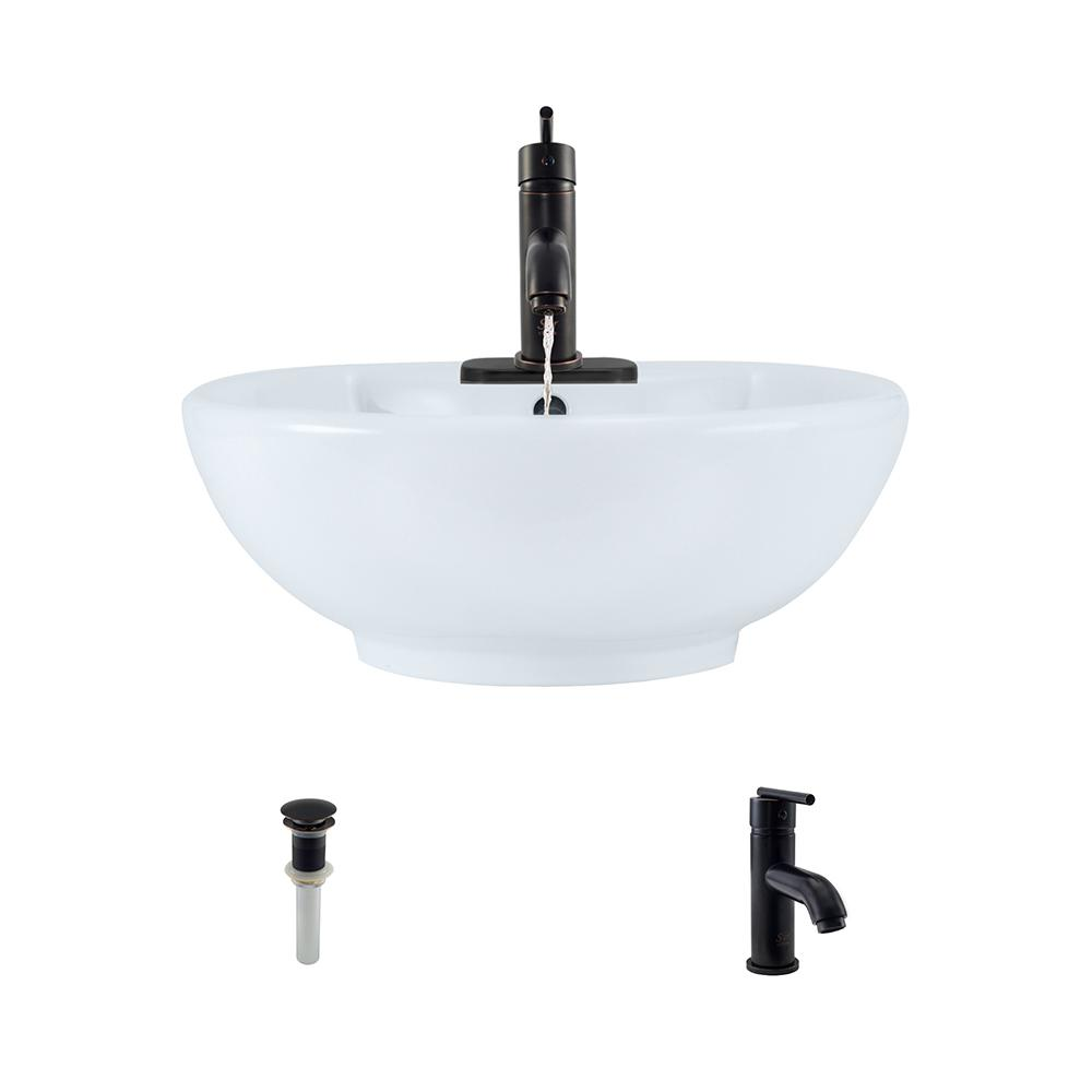 kitchen sink faucets mr direct porcelain vessel sink in white with 753 faucet 2702