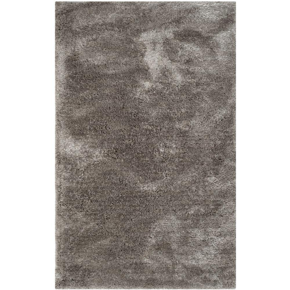 Safavieh South Beach Shag Silver 4 Ft X 6 Area Rug