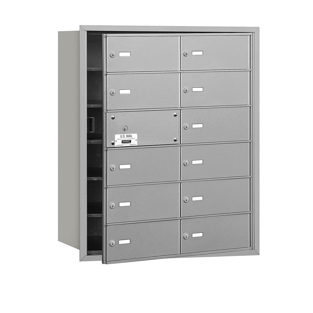 Aluminum USPS Access Front Loading 4B Plus Horizontal Mailbox with 12B