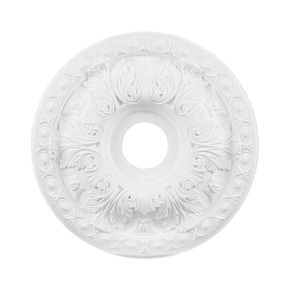 Titan Lighting 18 in. White Ceiling Medallion