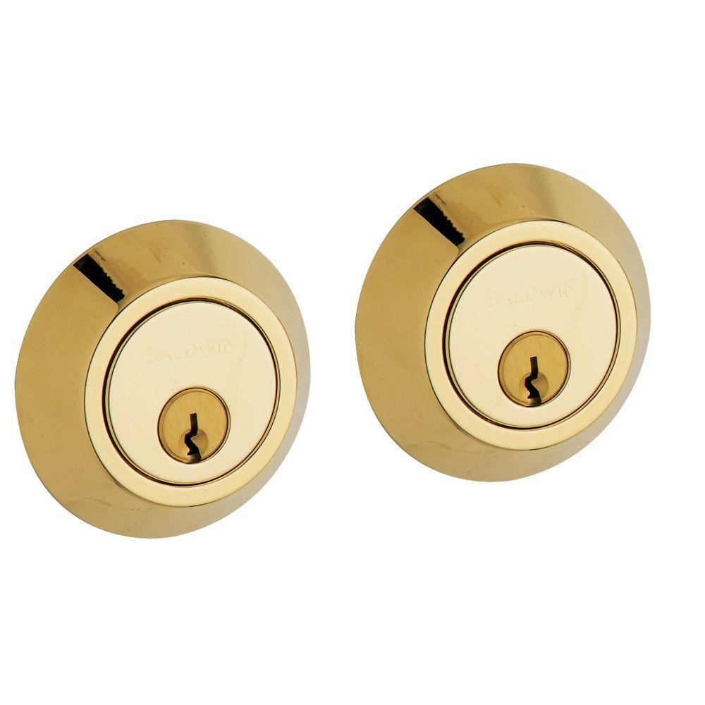 Contemporary Lifetime Polished Brass Double Cylinder Door Prep Deadbolt