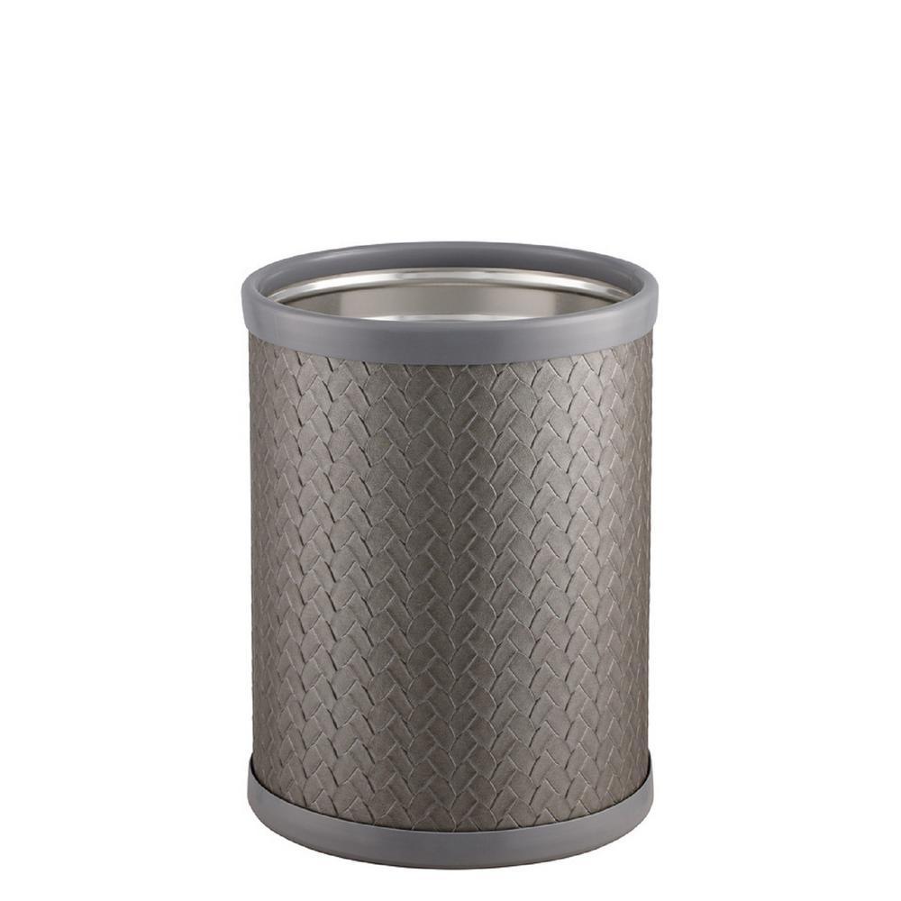 San Remo 8 qt. Silver Round Waste Basket