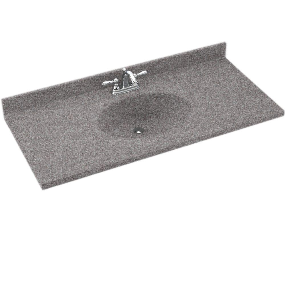 Swanstone Chesapeake 55 in. Solid Surface Vanity Top with Basin in Purple Sage-DISCONTINUED