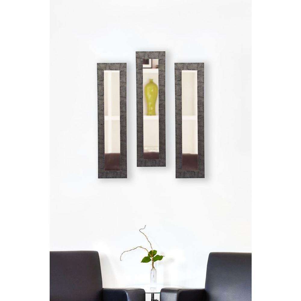 13.5 inch x 27.5 inch Safari Silver Vanity Mirror (Set of 3-Panels) by