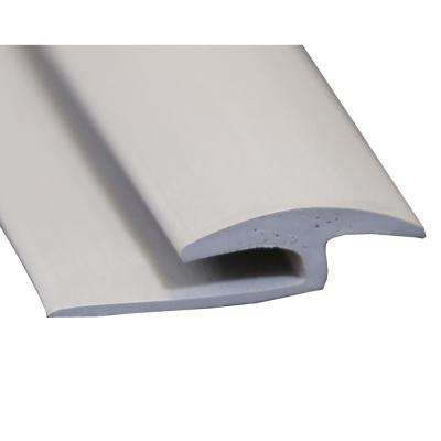 Gray 3/8 in. Thick x 1-3/8 in. Wide x 72 in. Length Vinyl Floor Rubber T-Molding