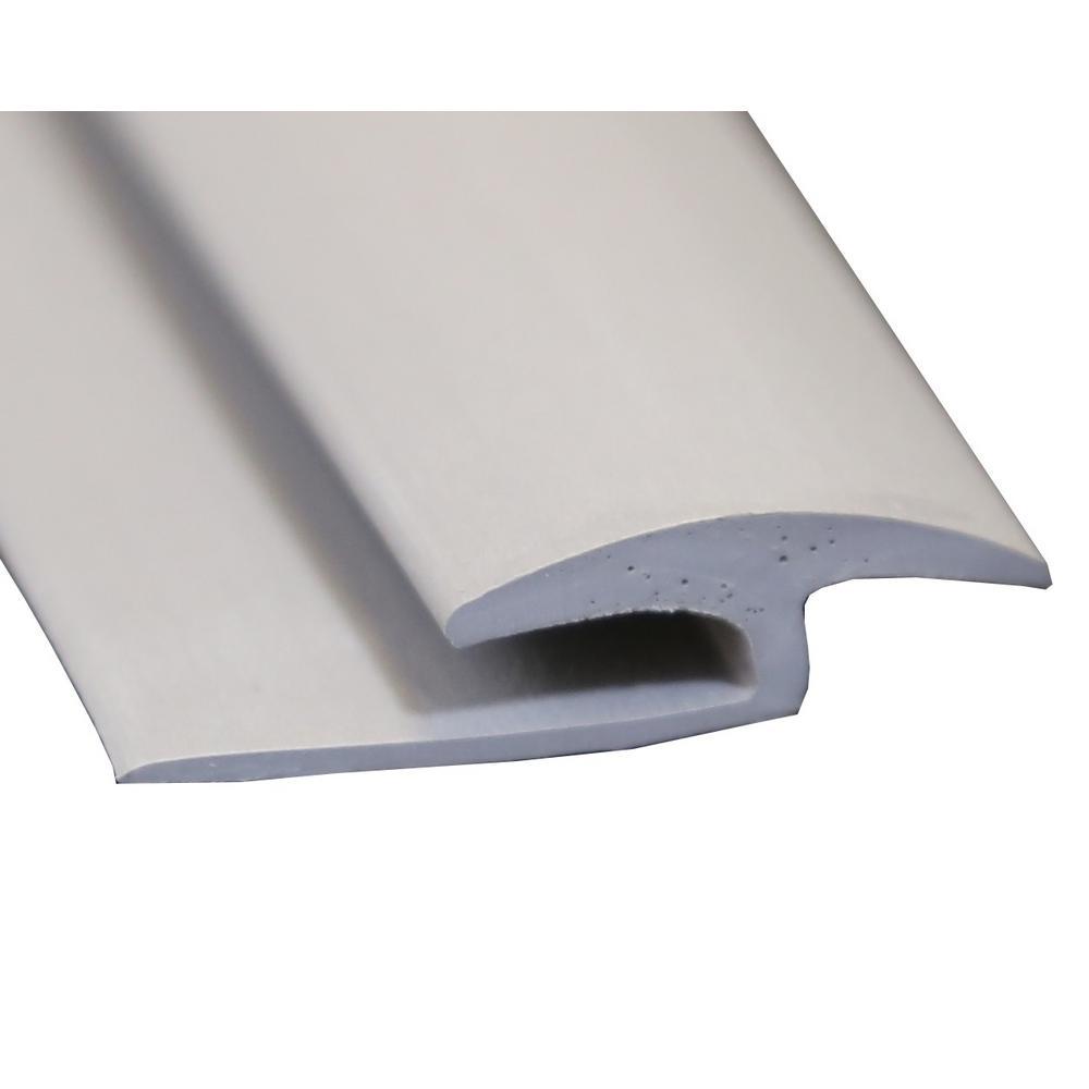 Islander Gray 3/8 in. Thick x 1-3/8 in. Wide x 72 in. Length Vinyl Floor Rubber T-Molding