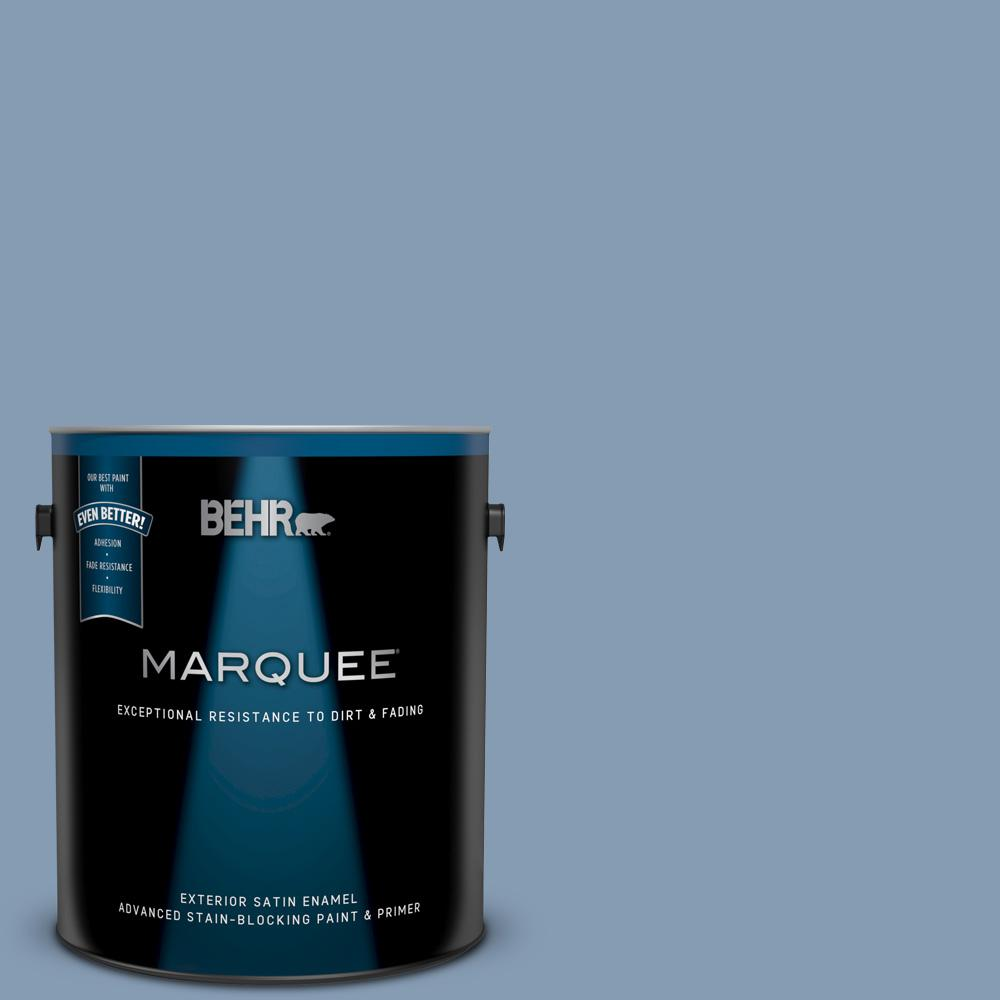 Behr Marquee 1 Gal S520 4 Private Jet Satin Enamel Exterior Paint And Primer In One 945401 The Home Depot