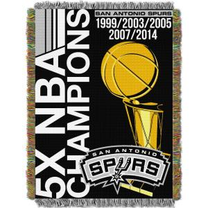 Spurs Commemorative Multi Color Polyester Tapestry throw by