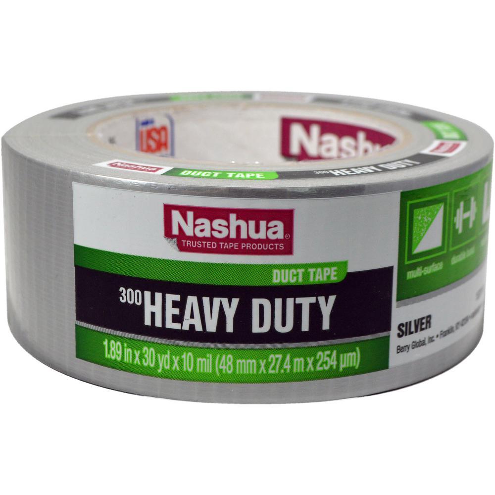 300 Heavy-Duty 1.89 in. x 30 yd. Duct Tape in Silver