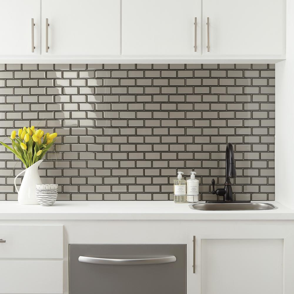 - Daltile Premier Accents Smoke Gray Brick Joint 11 In. X 13 In. X 8