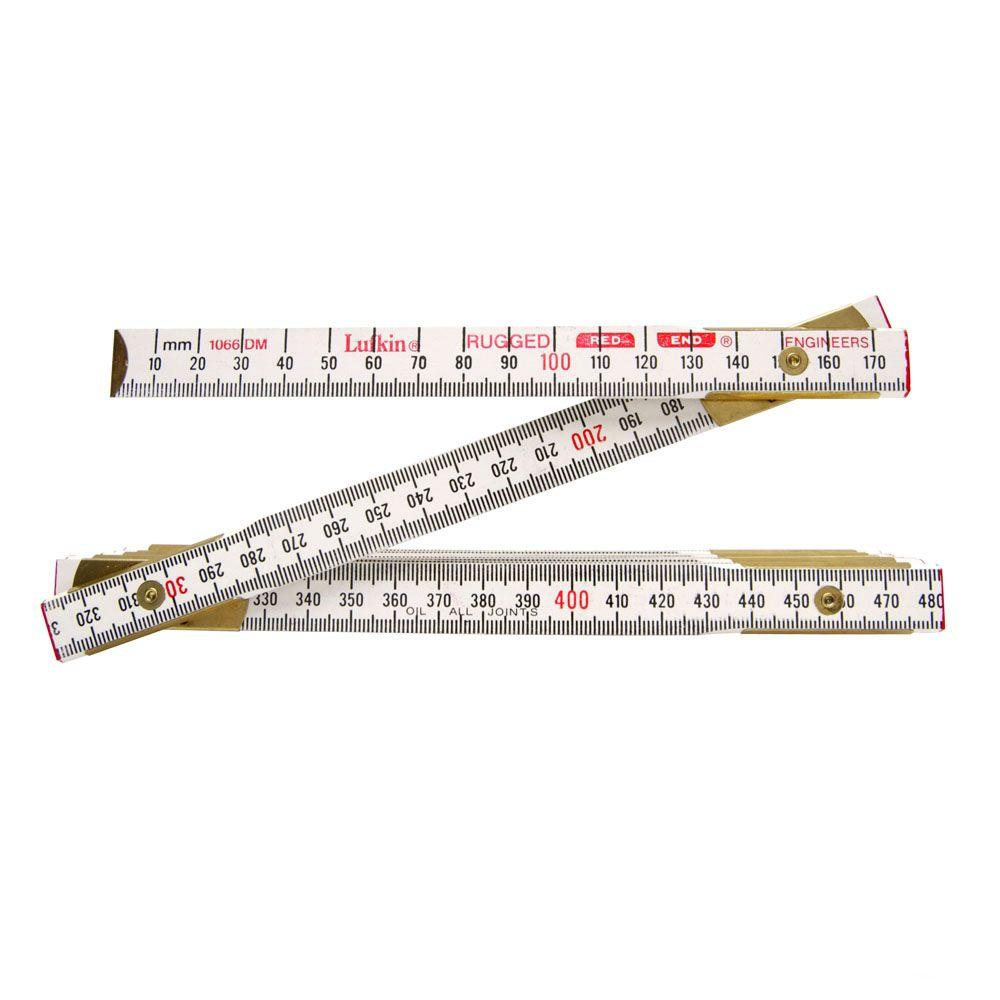 Lufkin 6 ft. x 5/8 in. Engineer's Scale Wood Ruler