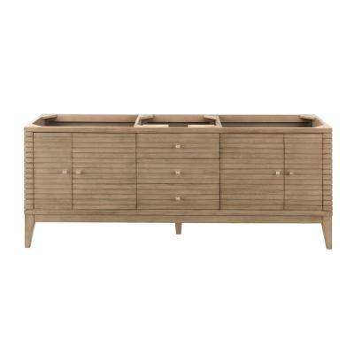 Linear 72.50 in. W x 18.75 in. D Double Bath Vanity Cabinet Only in Whitewashed Walnut