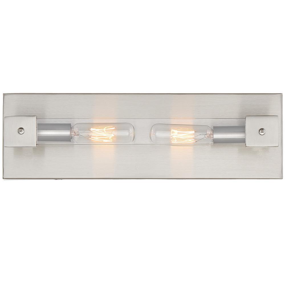 Halcyon 2-Light Satin Nickel Bath Light