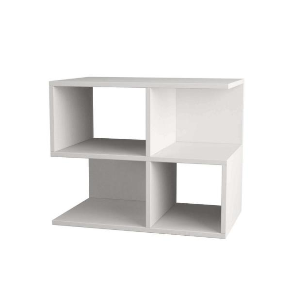Ada Home Decor Sharon White Modern Side Table DCRS2001