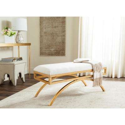 Moon Light Beige/Gold Bench