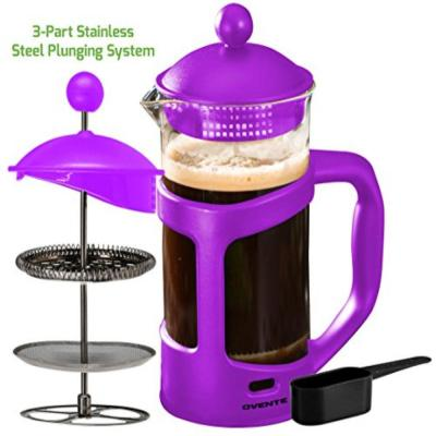 8-Cup Purple French Press Cafetire Heat-Resistant Borosilicate Glass Coffee and Tea Maker FREE Measuring Scoop