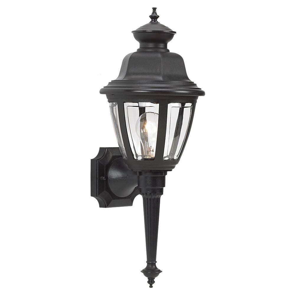 Sea Gull Lighting Belmar 1-Light Outdoor Black Wall Mount Fixture