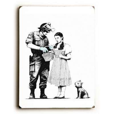 "9 in. x 12 in. ""Dorothy"" by Banksy Solid Wood Wall Art"