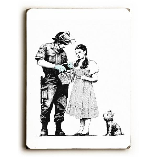 ArteHouse 9 in. x 12 in. ''Dorothy'' by Banksy Solid Wood