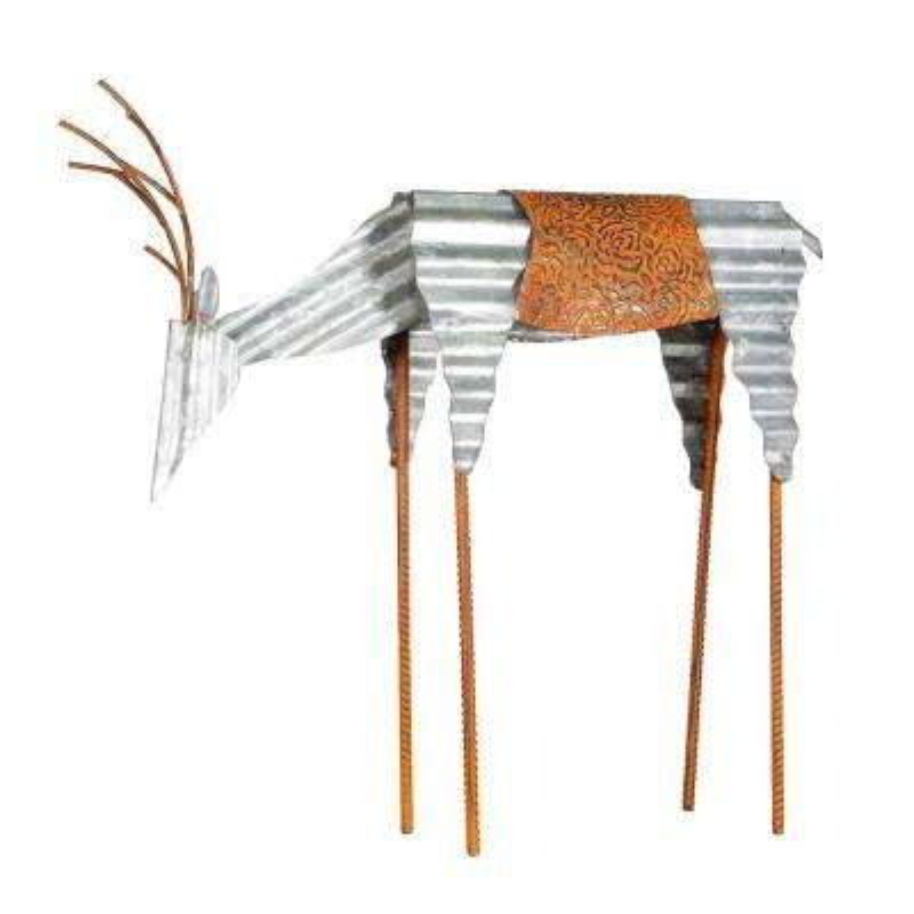 18 in. Metal Deer Holiday Decoration