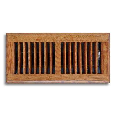4 in. x 12 in. Oak Floor Diffuser