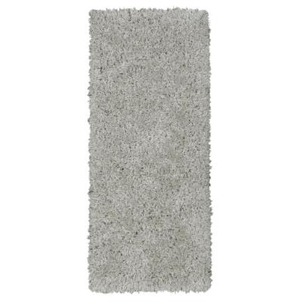 Pure Fuzzy Flokati Grey 2 ft. x 5 ft. Faux Sheepskin Indoor Kids Runner Rug