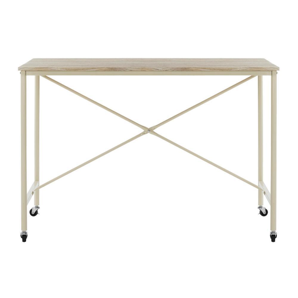 Callie Rustic Brown/Cream Desk