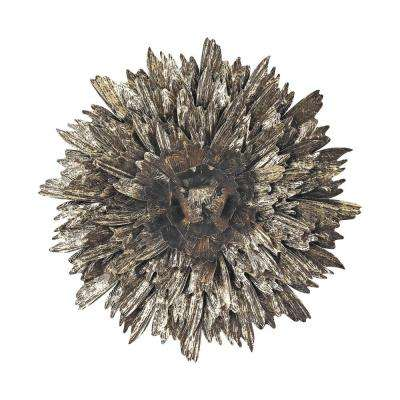 27 in. x 27 in. Metal Foliage Explosion Wall Art