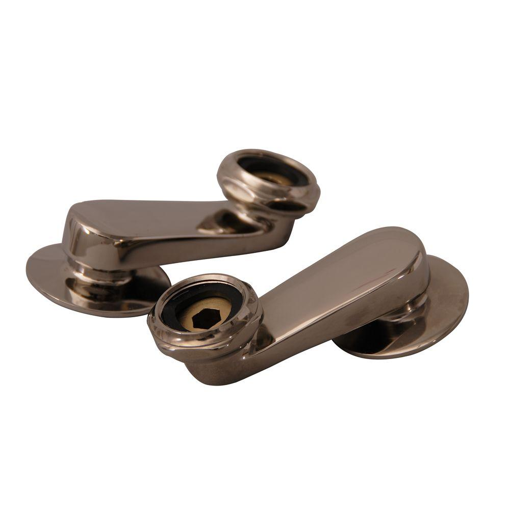 Adjustable Swivel Arm Connectors in Polished Nickel