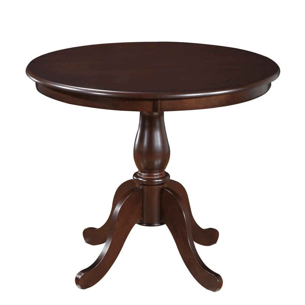 Carolina Clics Fairview Espresso 36 In Round Pedestal Dining Table