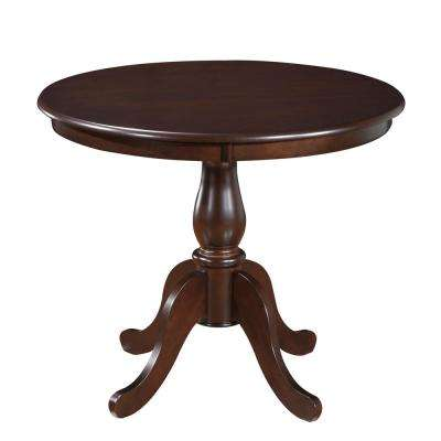 Fairview Espresso 36 in. Round Pedestal Dining Table