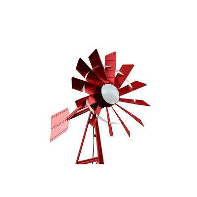 20 ft. Red and White Powder Coated Windmill Aeration System