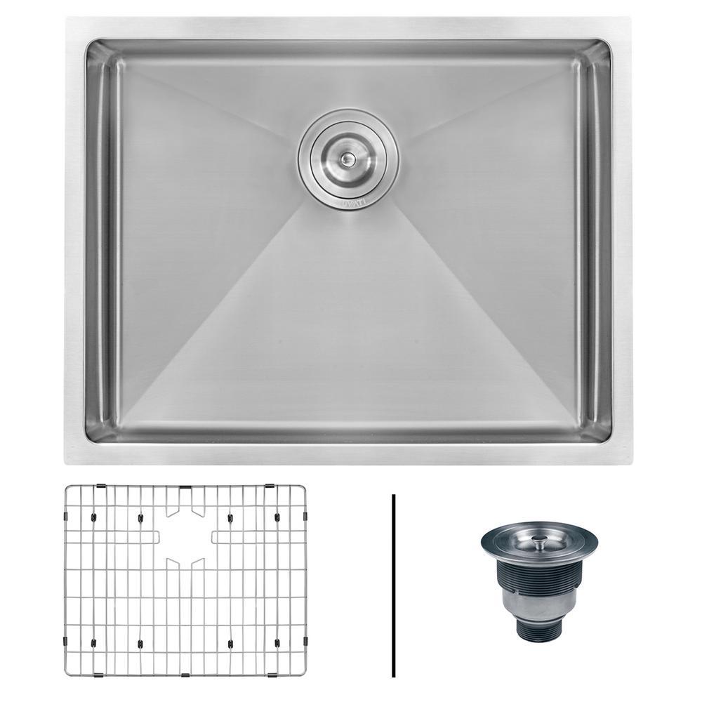 Undermount Stainless Steel 23 in. Single Bowl Kitchen Sink 16-Gauge