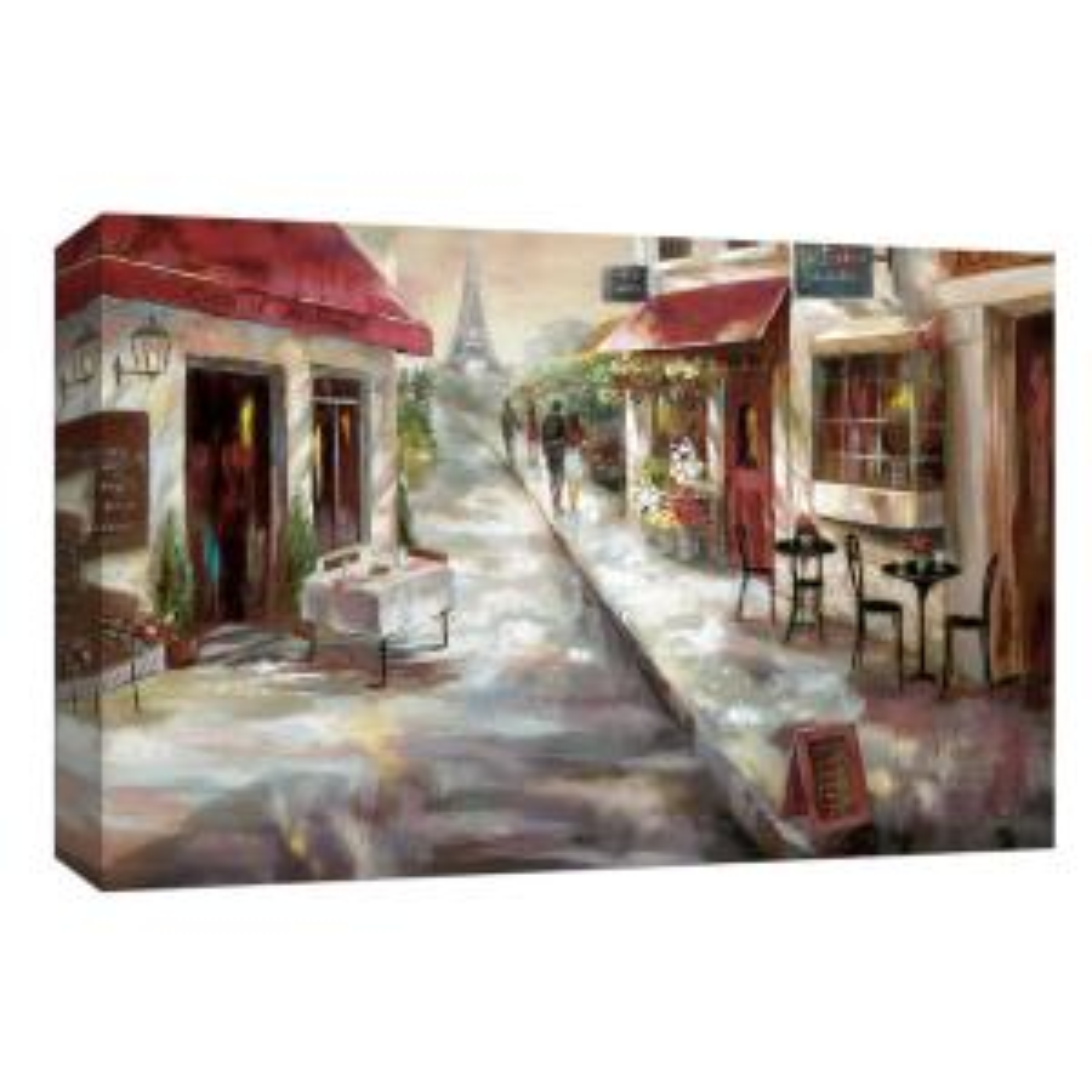 10 In X 12 Parisian Caf Canvas Wall Art