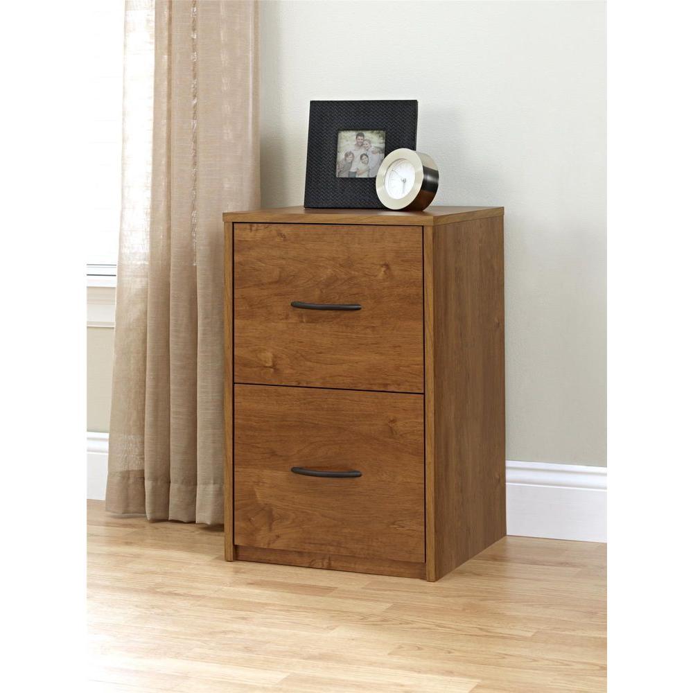 2-Drawer File Cabinet in Bank Alder