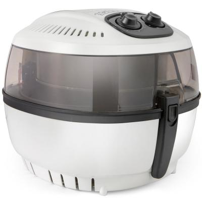 6.3 QT. White Electric No Oil Calorie Reducer Air Fryer with Temperature Timer Control