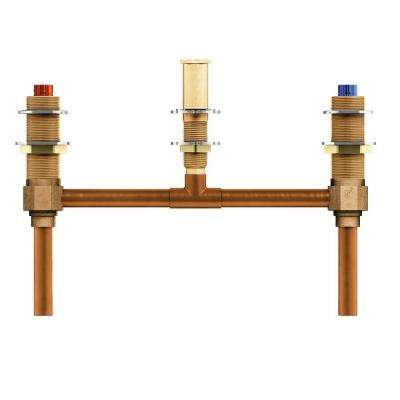 2-Handle 3-Hole Roman Tub 10 in. Center Rough-In Valve - 1/2 in. CC Connection