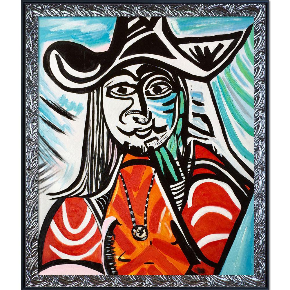 ArtistBe Musketeer Spell Reproduction with Ornate Silver and Black Custom Stacked Frameby Nora Shepley Canvas Print, Multi-color was $822.01 now $399.4 (51.0% off)