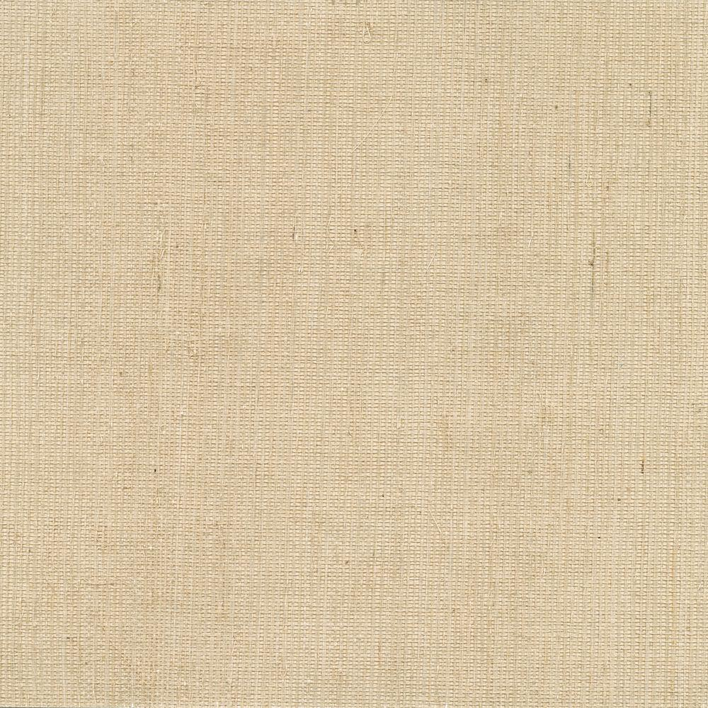 Ruslan Beige Grasscloth Wallpaper