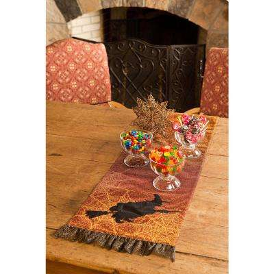 0.2 in. H x 13 in. W x 72 in. D Witching Hour Halloween Table Runner
