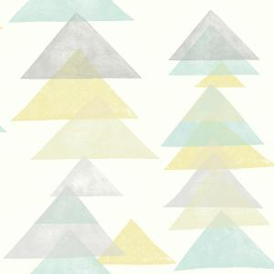 DwellStudio Baby and Kids Triangles Wallpaper