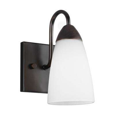 Seville 1-Light Burnt Sienna Sconce with LED Bulb
