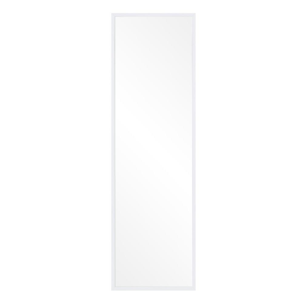 Pinnacle Bainbri Adjustable Rectangular White Floor Mirror