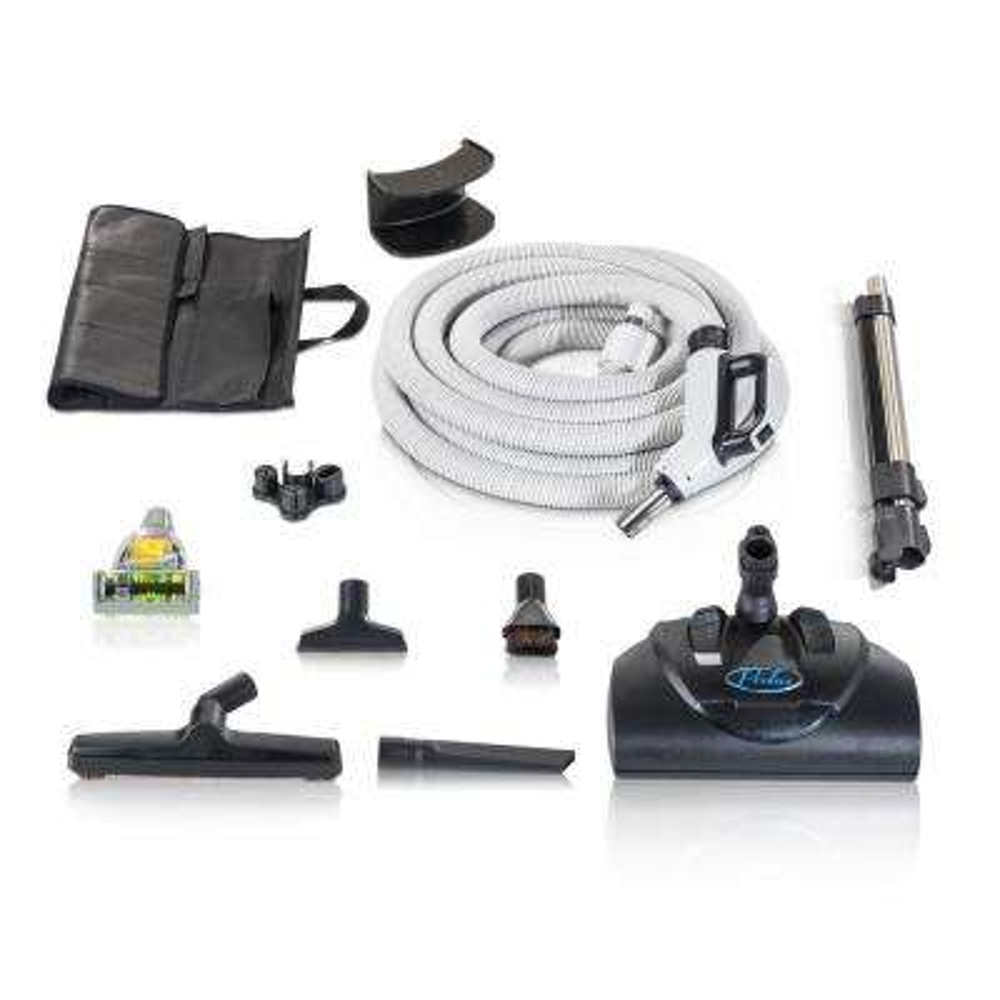 Premium 30 ft. Universal Central Vacuum Hose Kit with Wessel Werk Power Nozzle