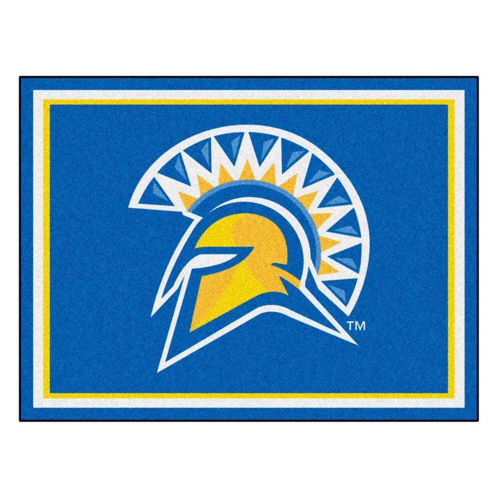 Fanmats Ncaa San Jose State University Blue 10 Ft X 8