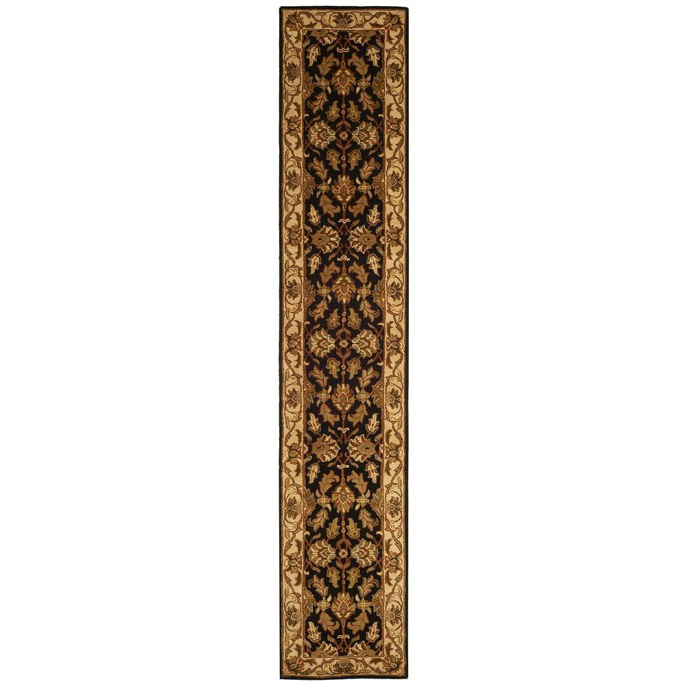 Heritage Black/Beige 2 ft. 3 in. x 10 ft. Runner