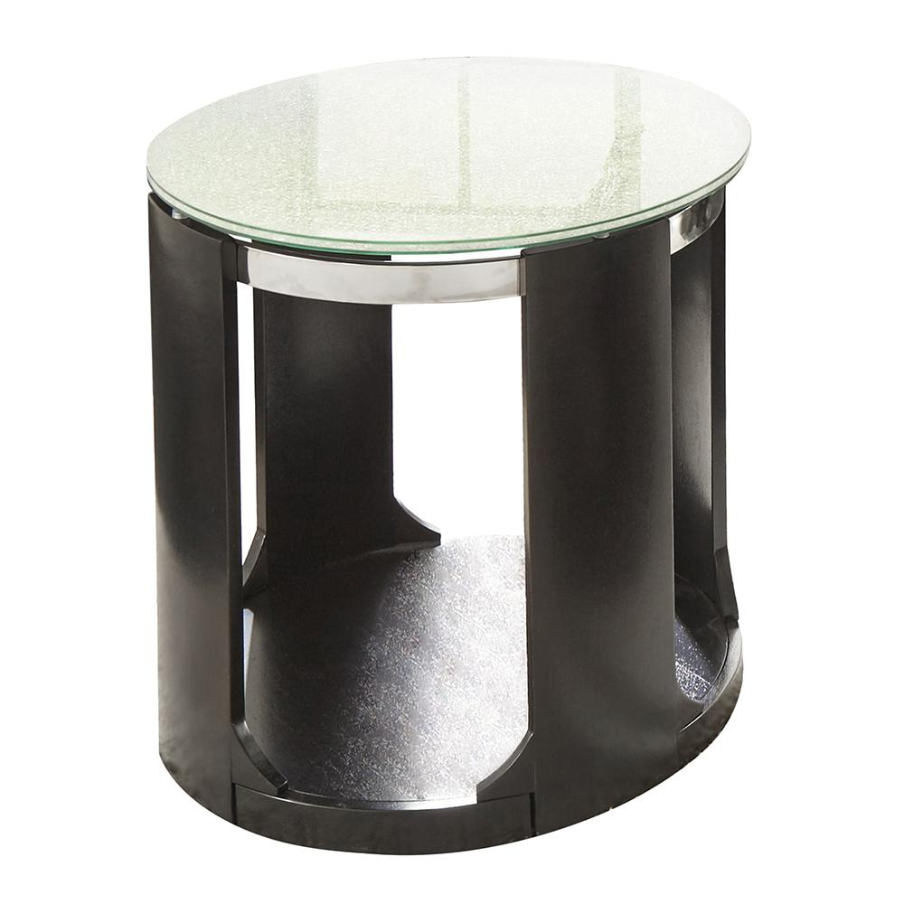 Pleasant Croften Merlot Cracked Glass Round End Table Cf300E The Home Interior And Landscaping Eliaenasavecom