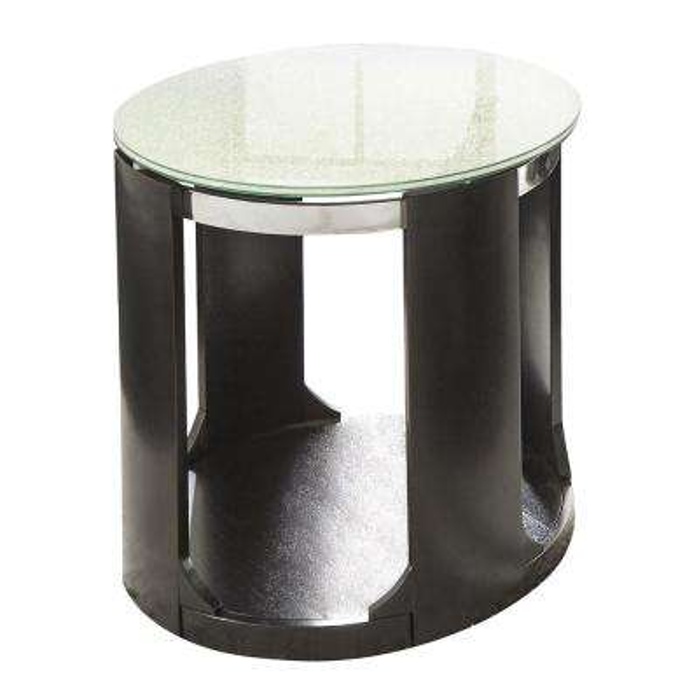 Croften Merlot Cracked Glass Round End Table